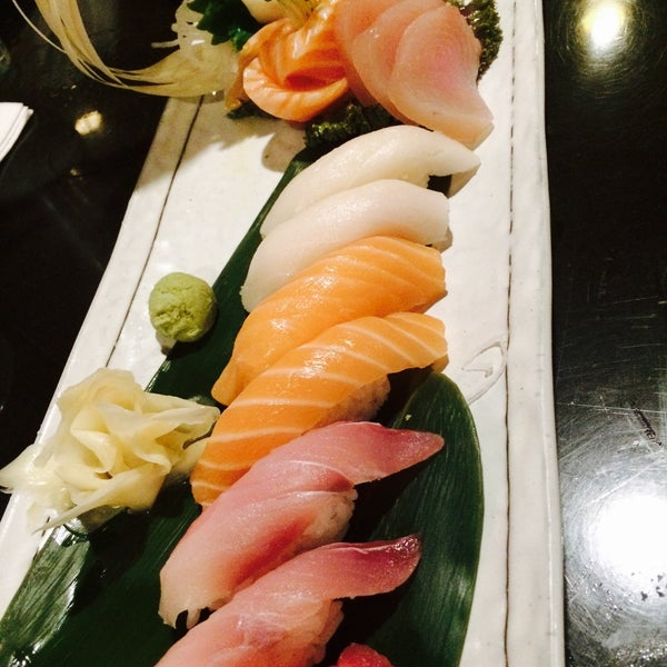 Sushi & sashimi platter $30. Beauty roll (no rice).