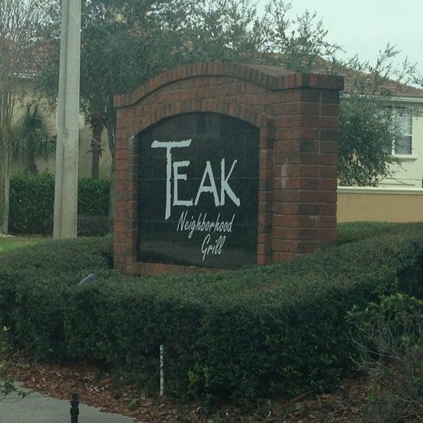 1/22/2013にAnthonyがTeak Neighborhood Grillで撮った写真