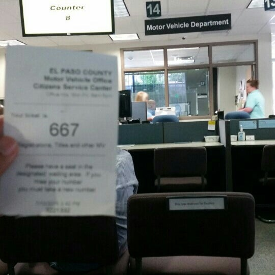 Photo taken at El Paso County Clerk And Recorder (Citizen's Service
