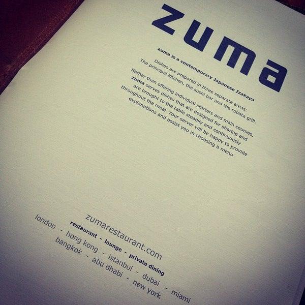 รูปภาพถ่ายที่ Zuma โดย Amira เมื่อ 6/29/2013