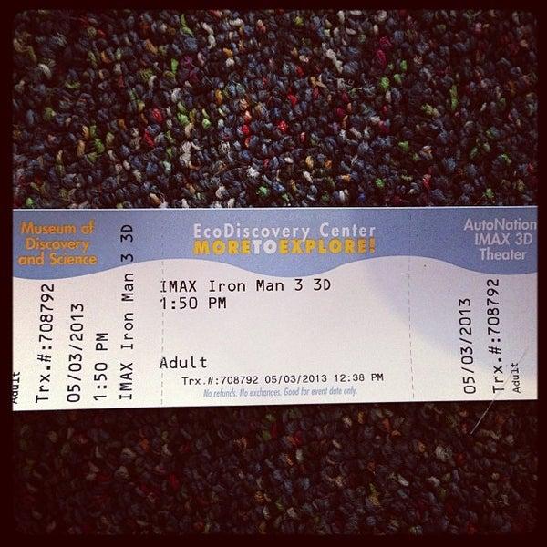 Снимок сделан в Autonation IMAX 3D Theater пользователем Chris C. 5/3/2013