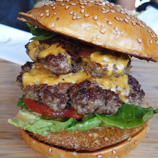 Good burgers. Tried Der Bulle. Warning,  it is Huge. Delicious.
