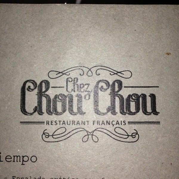 Foto diambil di Chez Chouchou oleh Hugo S. pada 6/9/2013