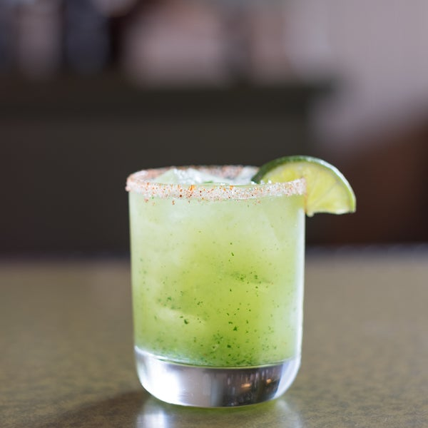 Kick start your evening with a refreshing Son of a Margarita cocktail. Tequila, orange liqueur, cucumber, jalapeno, lime juice #yum