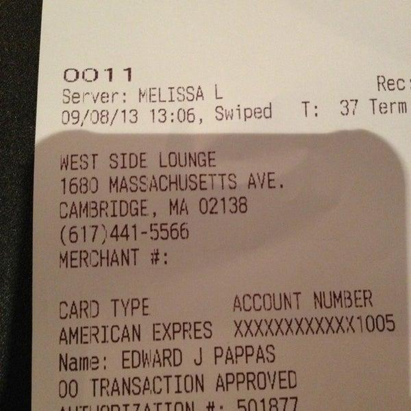 9/8/2013 tarihinde EJ P.ziyaretçi tarafından West Side Lounge'de çekilen fotoğraf