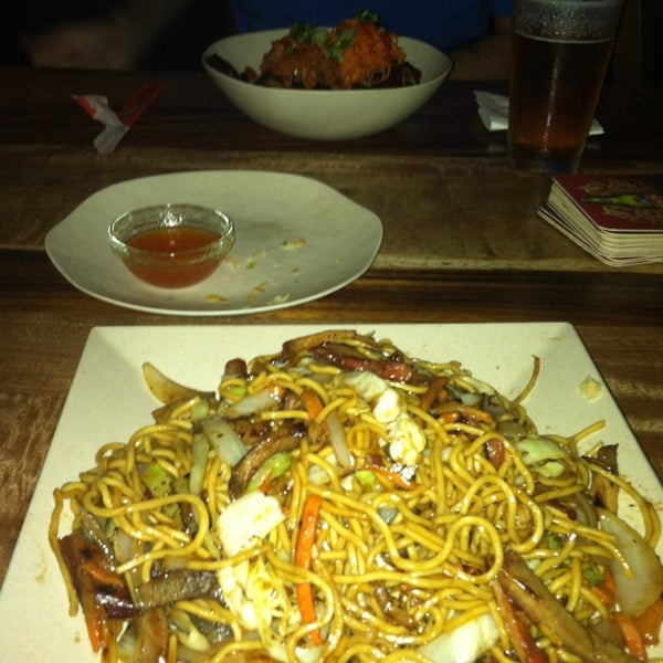 Good food. Good beer. Had the pork lo mein and the short ribs, both AWESOME.  And the staff was super friendly.