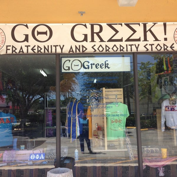 "Go Greek Boca Store - Your ""Go 2 Place"" for all your Custom Greek Needs. Check-In on the Go Greek Boca Foursquare Page for Loyalty Specials."