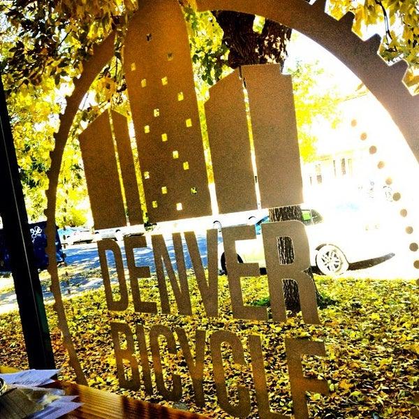 Photo taken at Denver Bicycle Cafe by Rex R. on 10/15/2012