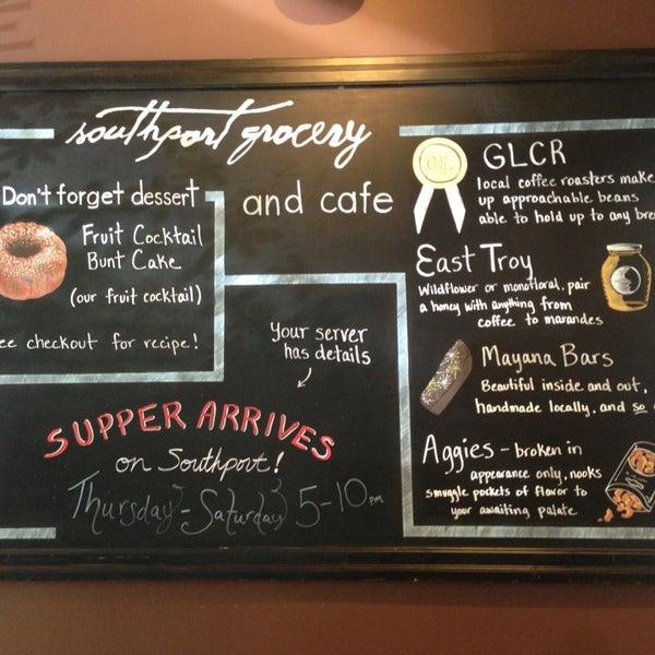 Снимок сделан в Southport Grocery & Cafe пользователем Dion P. 6/16/2013