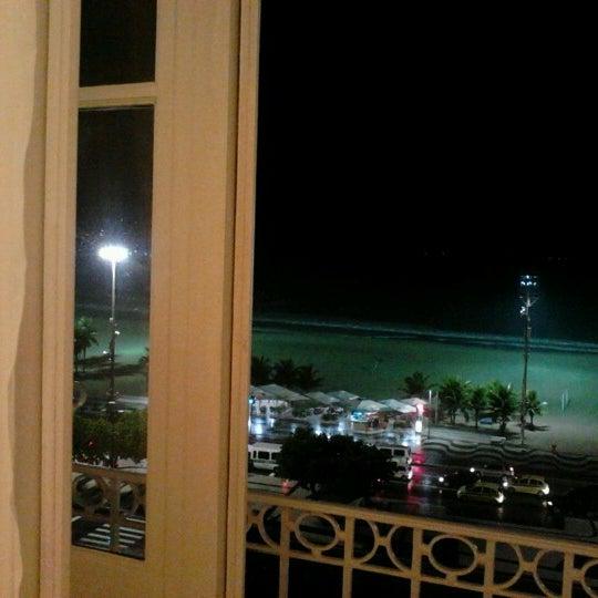 10/12/2012에 Myrcea Carolina A.님이 Belmond Copacabana Palace에서 찍은 사진