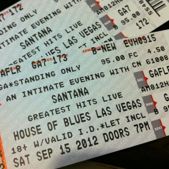 Снимок сделан в House of Blues пользователем Abel B. 9/17/2012