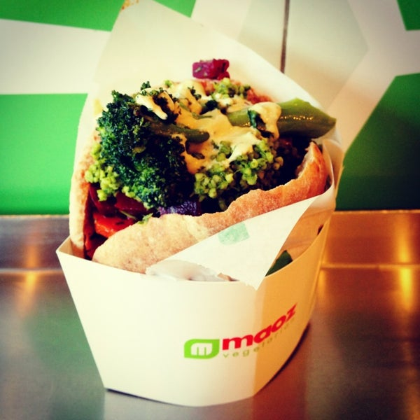 The falafel sandwich is a meal in itself! Only get more if you're hungry.