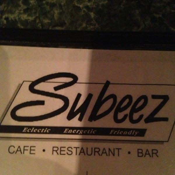 Foto diambil di Subeez Cafe Restaurant Bar oleh Jenn O. pada 11/22/2013