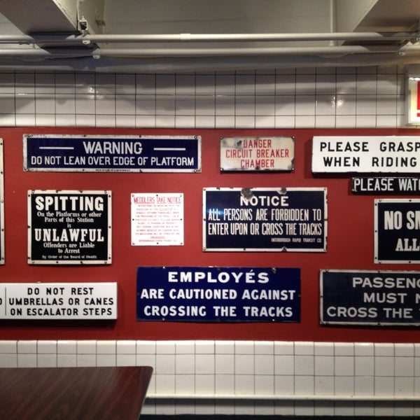 Great place for history of NY transit
