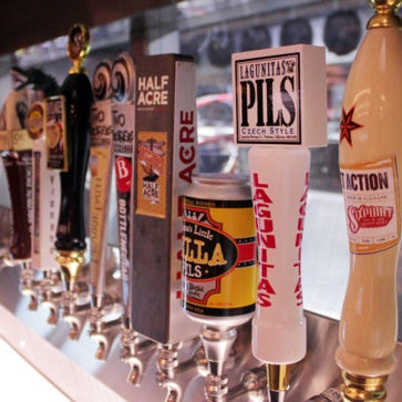 Howells & Hood is an epic beer hall in the Trib Tower, equipped with 114 beers on tap springing from 360 draft faucets spread across the 23,000sqft venue.