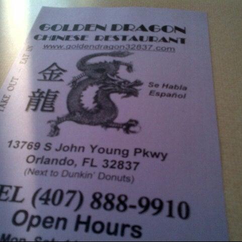 golden dragon chinese restaurant orlando