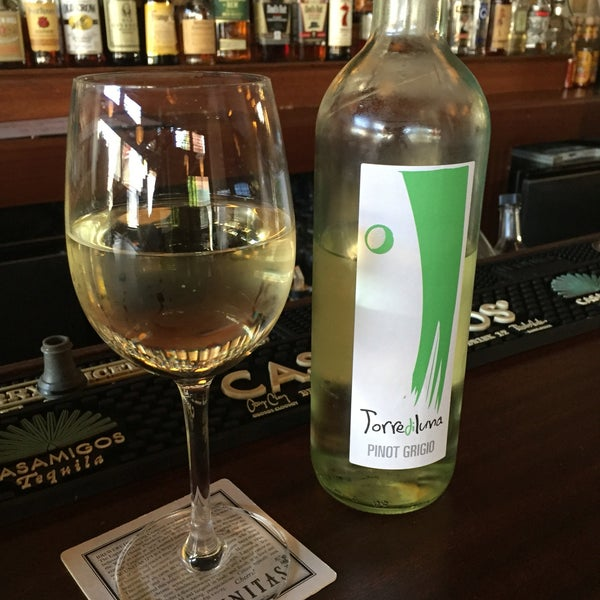 The food is good. The people are nice. And they have happy hour from 4-8! And brunch on weekends, where you get two for one!!!! This place has my heart! Below is a pick of the house Pinot Grigio!