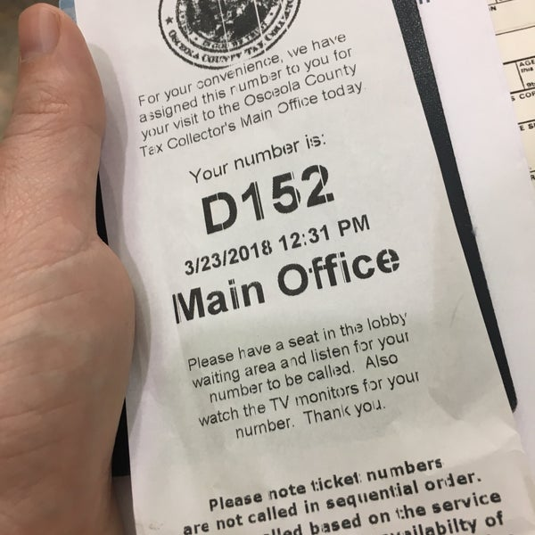 osceola county tax collector drivers license