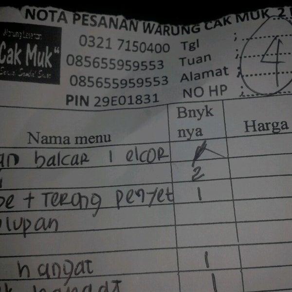 Warung Lesehan Cak Muk 2 Mojokerto Java Oriental