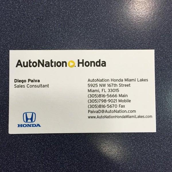 Photos At Autonation Honda Miami Lakes Auto Dealership In Miami