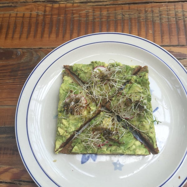 Avocado toast is tasty but a bit small imho
