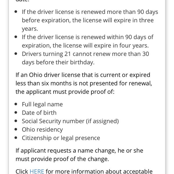 ohio drivers license renewal changes