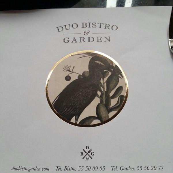 Foto tomada en Duo Bistro & Garden por Fabiana M. el 2/23/2014
