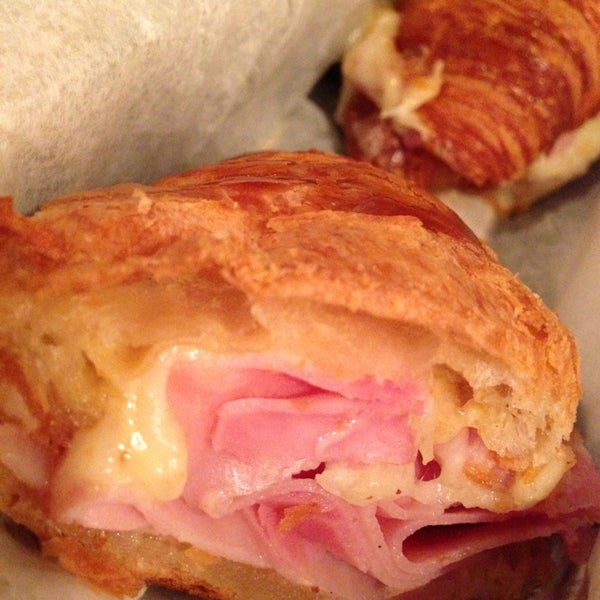 French ham croissant for sure!