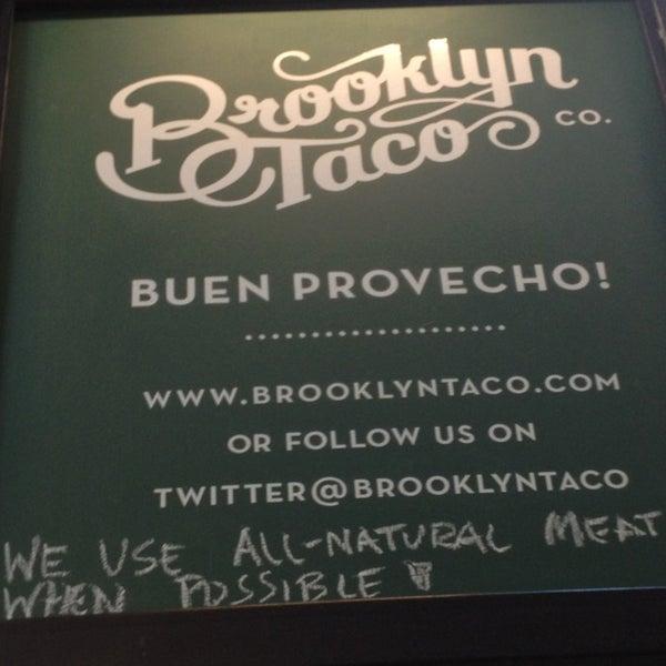 Снимок сделан в Brooklyn Taco Company пользователем Joey T. 3/23/2013