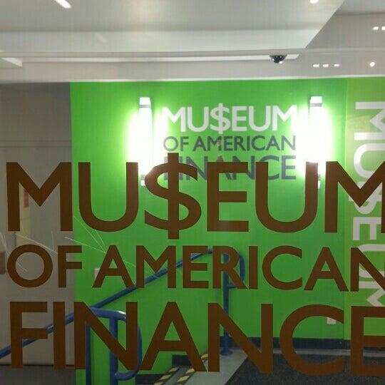 Foto tirada no(a) Museum of American Finance por @juliefogg F. em 12/8/2015