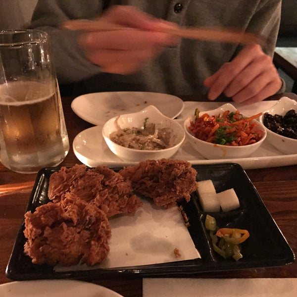 We got garlic fried chicken, pork belly ssam set, and banchan and they were delicious! The vibe, service and the food were excellent. This place is one of the best hidden gems we discovered in NY