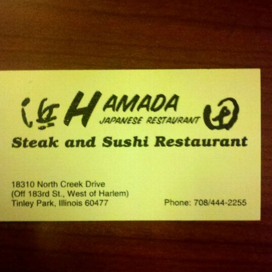 Hamada of Japan is an Asian restaurant that offers tableside cooking as well as tempura and the traditional maki Start out with eda mame or fried scallops or choose from Hamadas special appetizer menu with items such as seaweed salad baked mussels or teriyaki sea bass