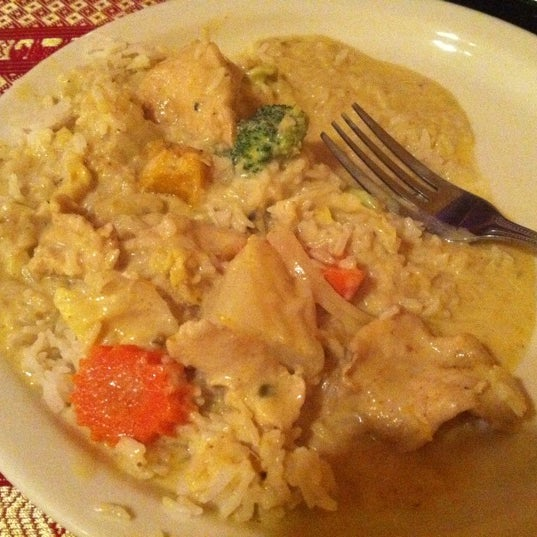 The Yellow Curry with chicken was outstanding! The curry had great flavor and I loved that it had pumpkin in it! Great addition!