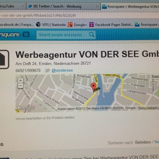 Foto tirada no(a) Werbeagentur VON DER SEE GmbH por Sebastian F. em 1/11/2012