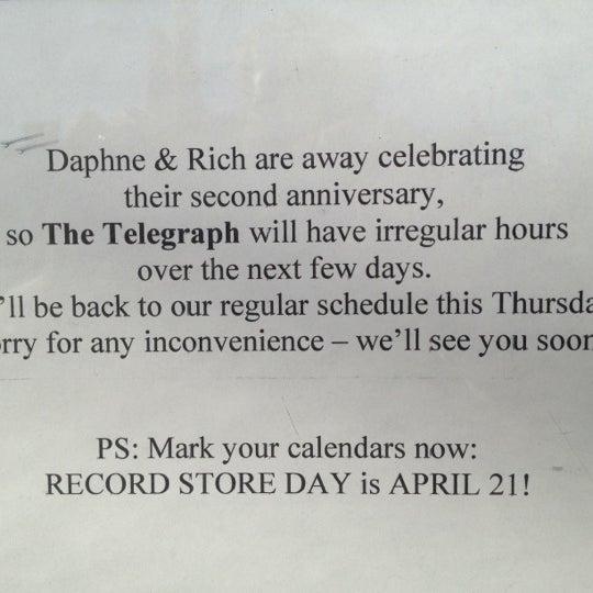 4/3/2012にMichael D.がThe Telegraphで撮った写真