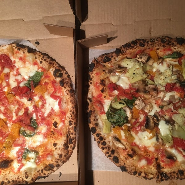 Pizza is amazing. The dough is flavorful, soft and crispy. Their pizza oven works wonders.