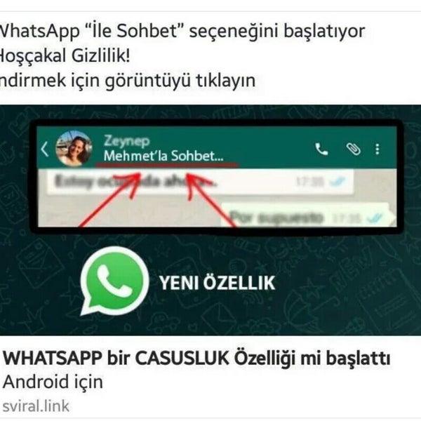 whatsapp ile sohbet seçeneğini başlatıyor
