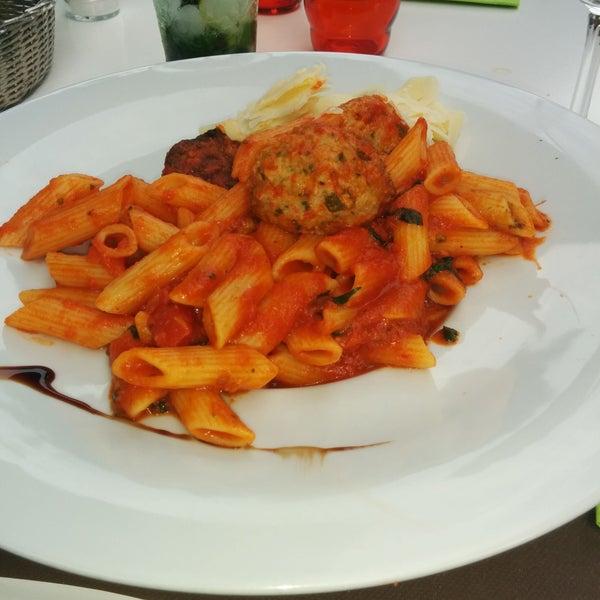 Pasta met balletjes op italiaanse wijze! Mmmm