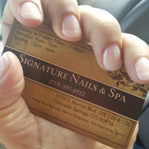 signature nails and spa - Colorado Springs, CO