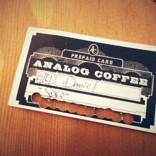 Снимок сделан в Analog Coffee пользователем Daniel 10/29/2012