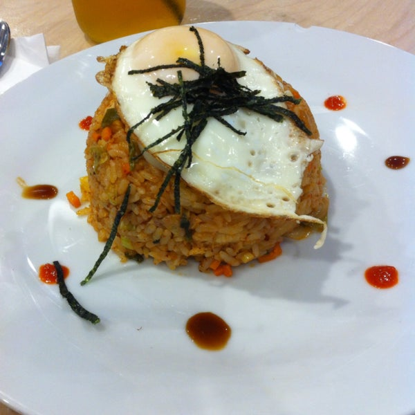 The kimchi fried rice is delish!