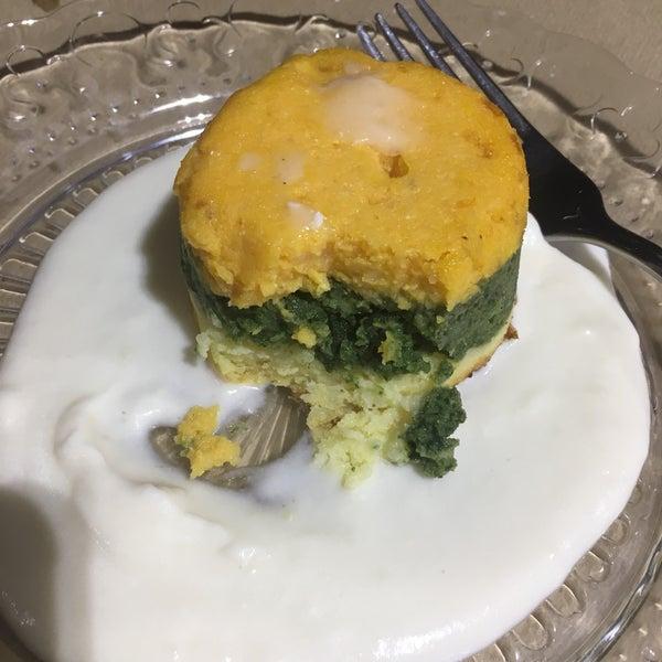 Sublime. El soufflé de espinaca calabaza y patata está para ponerle un piso al cocinero