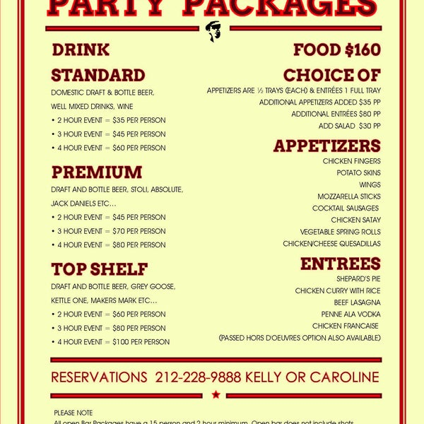 Our holiday/company parties are amazing. Check out our party packages