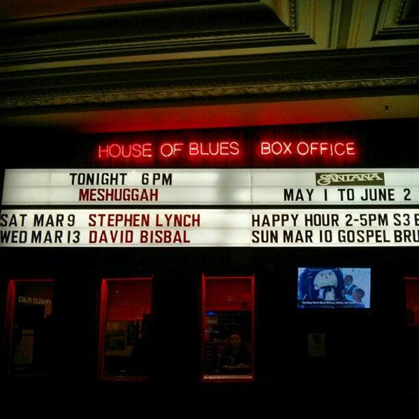 Снимок сделан в House of Blues пользователем Kevin K. 3/4/2013