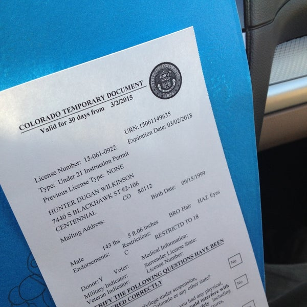 colorado drivers license over 18