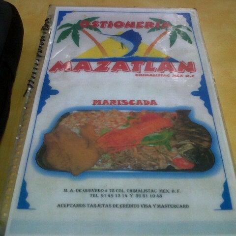 Снимок сделан в Ostionería Mazatlán пользователем Humberto R. 12/23/2012