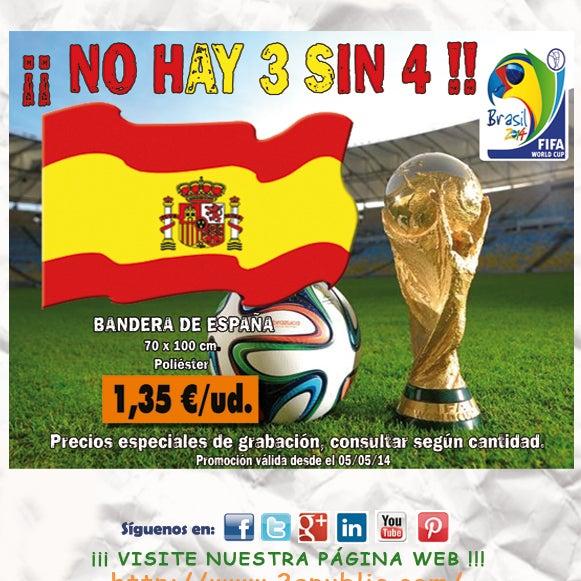 ¡¡¡ 2A - OFERTA BANDERA ESPAÑA !!!. Aprovéchate de esta oferta y no te quedes sin BANDERA. NO se requieren cantidades mínimas.