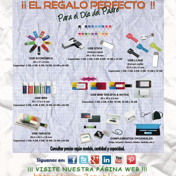 ¡¡2A - Memorias USB!! El regalo perfecto para el #DiadelPadre. Para más información, no duden en llamarnos