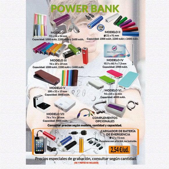 ¡¡ 2A - POWER BANK !!. No te quedes sin bateria en el móvil nunca más. Para más información y solicitud de presupuestos, sin ningún tipo de compromiso, no dude en contactarnos.