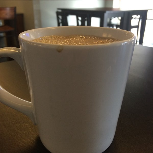 Ask for an in-house mug when you are going to be here a while. Refills cost less! :-)
